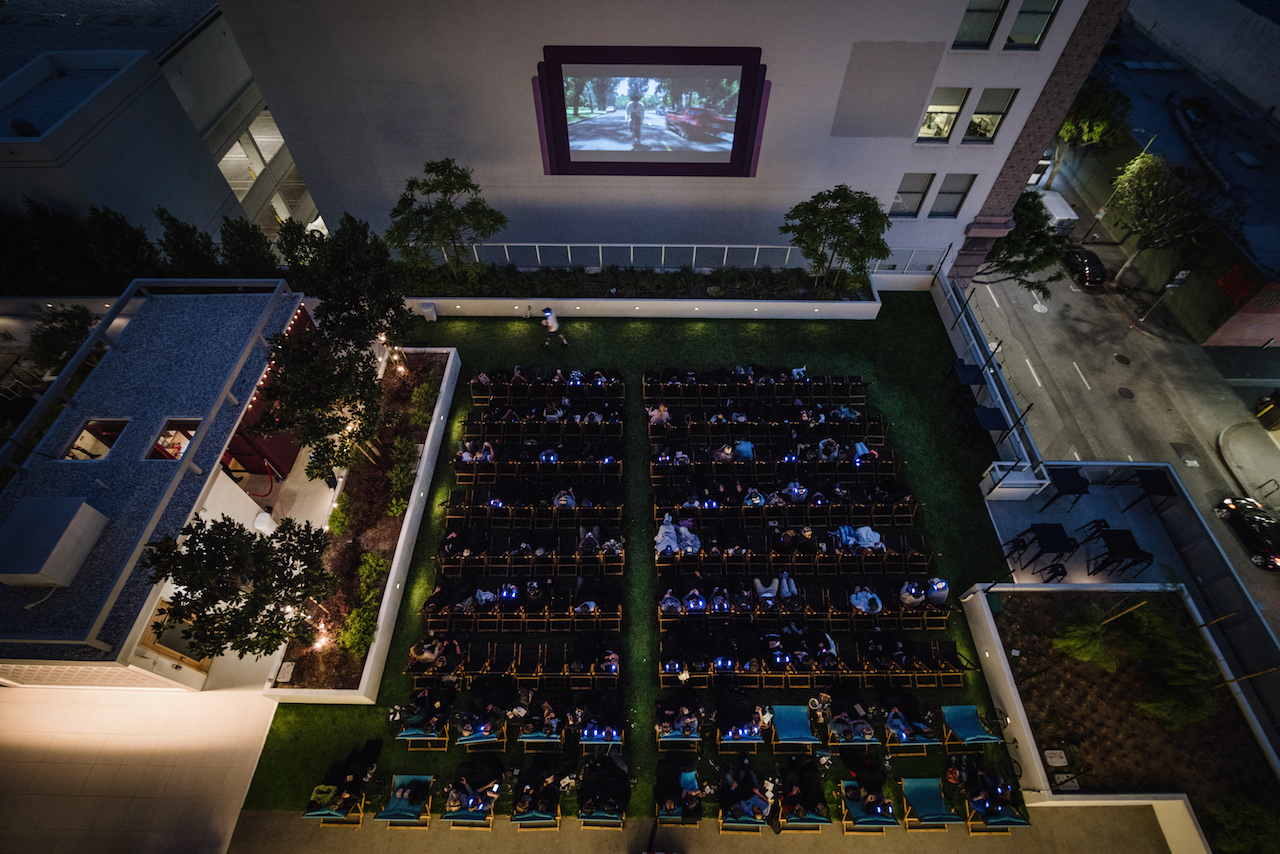 Los Angeles Rooftop Cinema Club Outdoor Movie Theatre