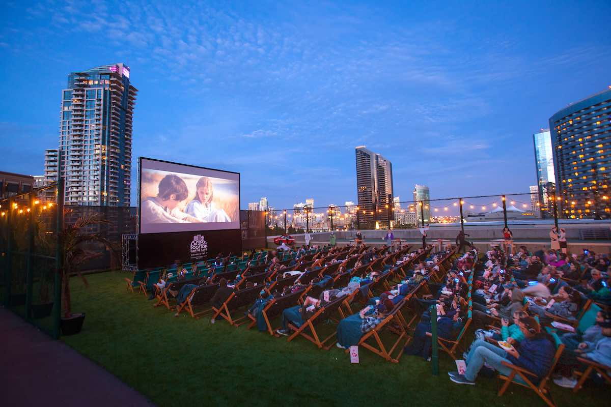 San Diego Rooftop Cinema Club Outdoor Movie Theatre