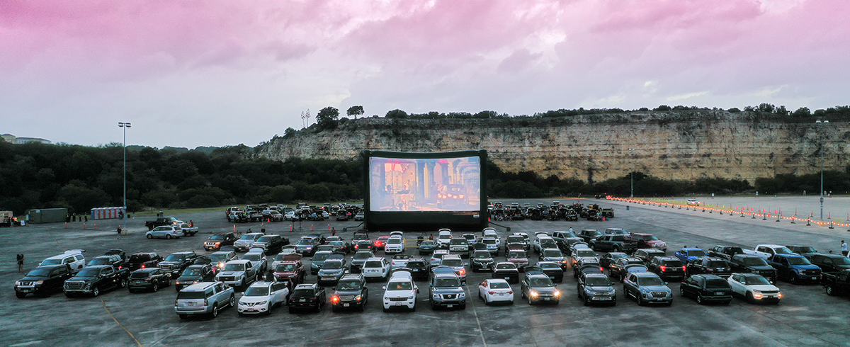 The Drive In At Fiesta Texas Rooftop Cinema Club