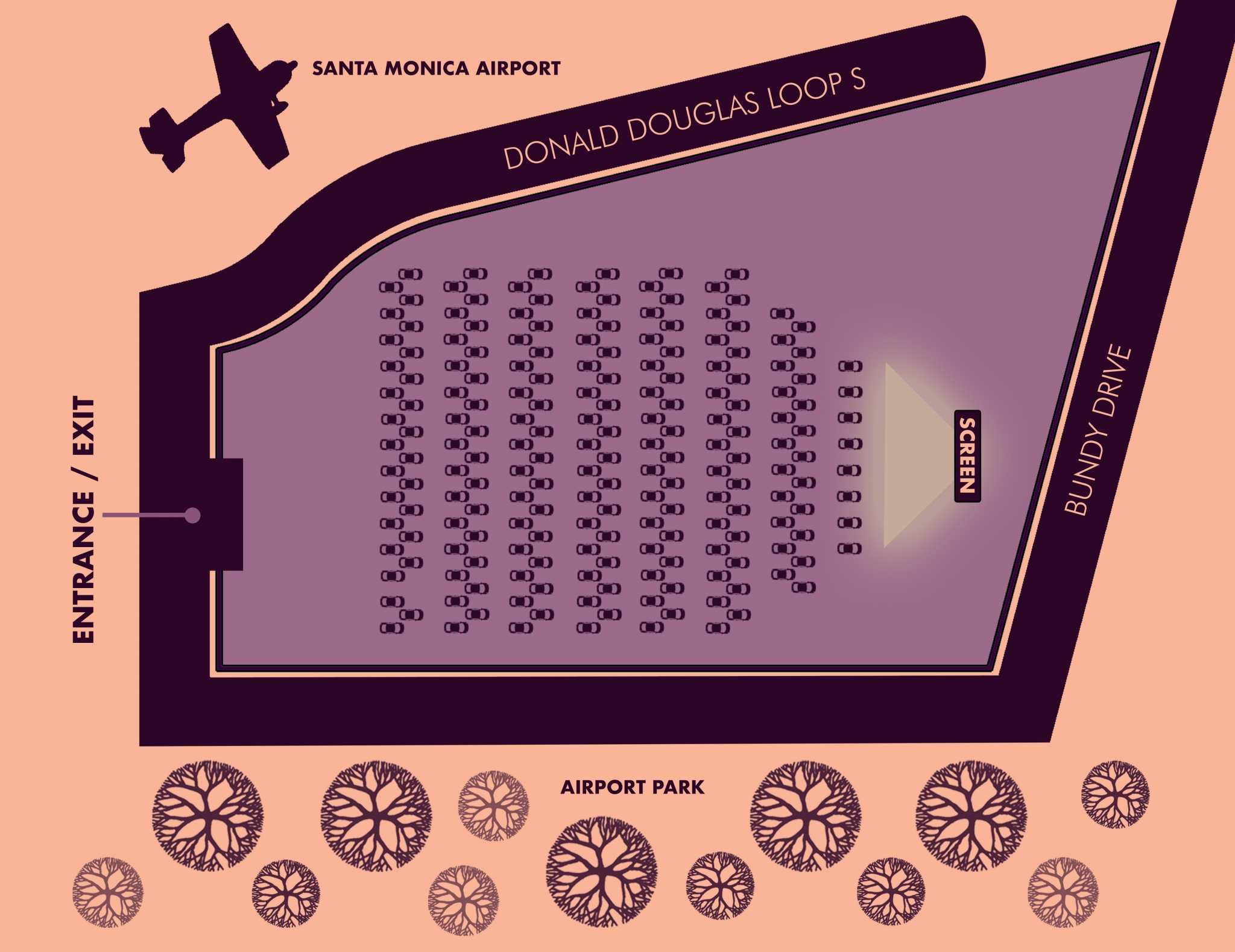Santa Monica Airport Parking Map